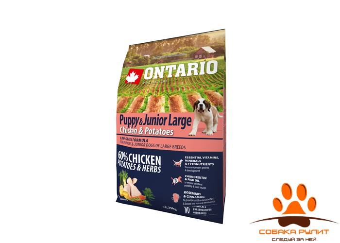 Ontario Для щенков крупных пород с курицей и картофелем (Ontario Puppy & Junior Large Chicken & Potatoes