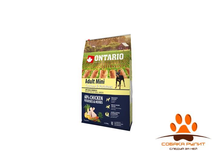 Ontario Для собак малых пород с курицей и картофелем (Ontario Adult Mini Chicken & Potatoes
