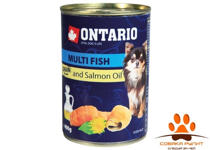 Ontario Консервы для собак малых пород: рыбное ассорти (ONTARIO Mini – Multi Fish and Salmon oil