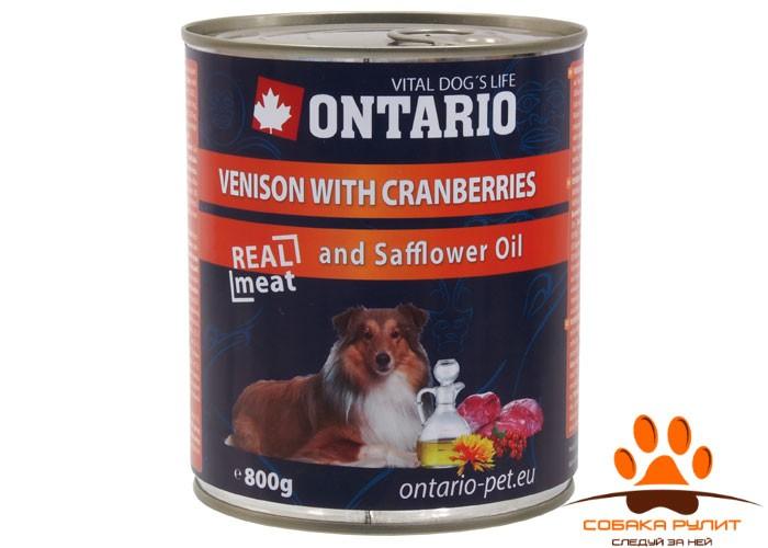 Ontario Консервы для собак: оленина и клюква (ONTARIO konzerva Venison,Cranberries,Safflower Oil)