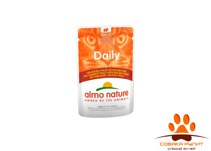 Almo Nature Daily Menu Паучи для кошек 70г (в ассортименте)