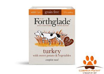 Forthglade Grain Free Natural Lifestage Turkey with Sweet Potato& Vegetables 395гр (для собак из мяса индейки, батата и овощей)