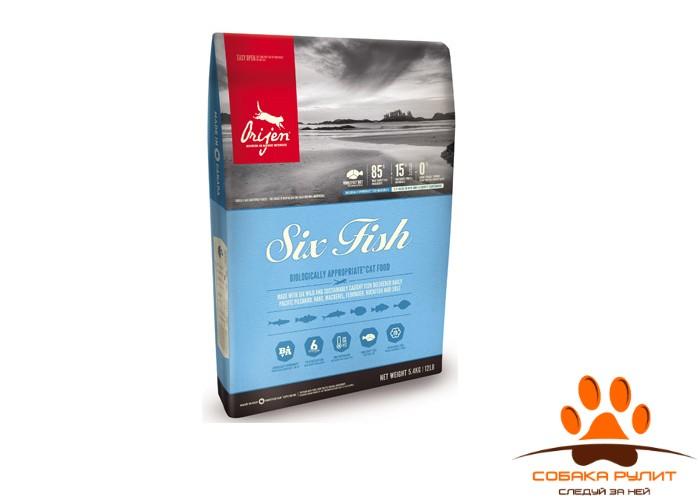 Orijen SIX FISH корм для кошек