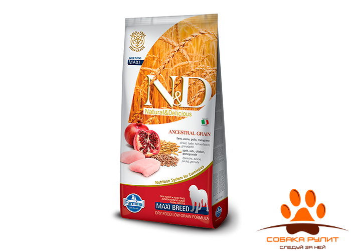 Farmina N&D Low Grain Dog Chicken & Pomegranate Adult Maxi