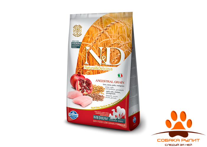 Farmina N&D Low Grain Dog Chicken & Pomegranate Adult