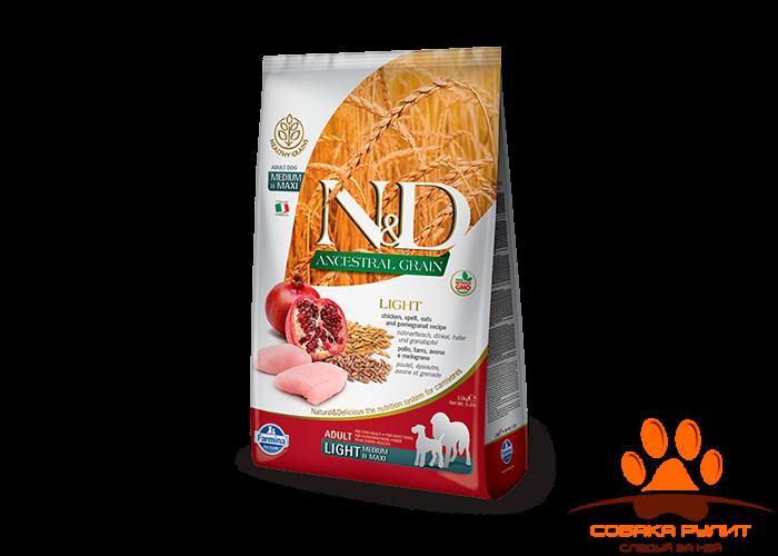 Farmina N&D Low Grain Dog Chicken & Pomegranate Light Medium & Maxi 12 кг