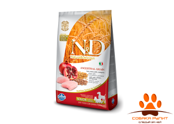Farmina N&D Low Grain Dog Chicken & Pomegranate Senior Medium & Mini 2,5 кг