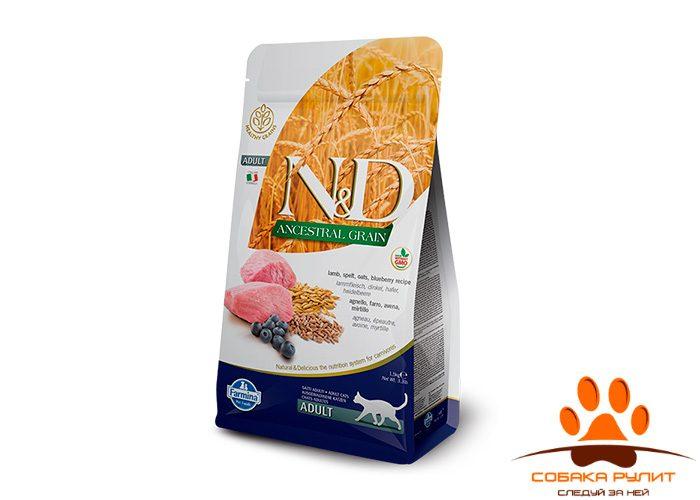 Farmina N&D Low Grain Cat Lamb & Blueberry Adult