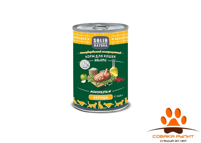 Solid Natura Курица влажный корм для кошек