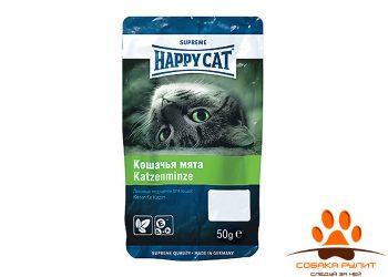 HAPPY CAT Лакомства подушечки с кошачьей мятой 50гр