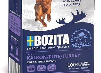 Bozita Naturals кусочки в желе для собак, с индейкой 370г