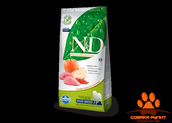 Farmina N&D Dog Boar & Apple Adult Maxi