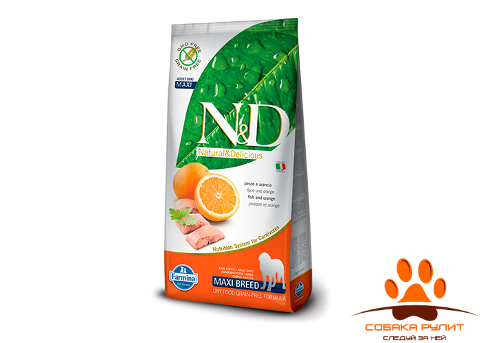 Farmina N&D Dog Fish & Orange Adult Maxi 12 кг