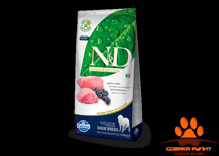 Farmina N&D Dog Lamb & Blueberry Adult Maxi 12 кг