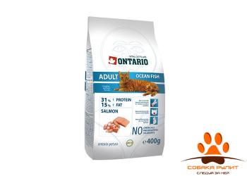 Корм Ontario для взрослых кошек с морской рыбой