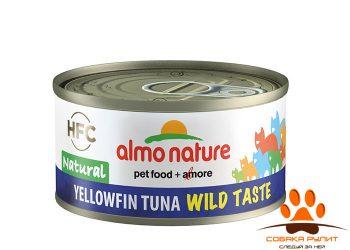 """Almo Nature консервы для кошек """"Желтохвостный тунец"""", 75% мяса 70г"""