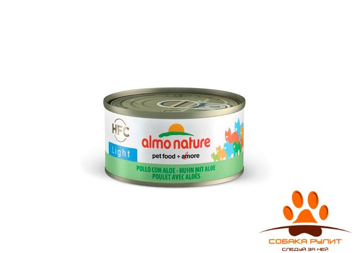 Almo Nature низкокалорийные консервы для кошек 70г (в ассортименте)