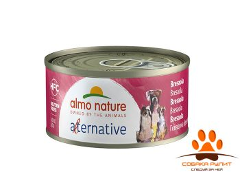 "Almo Nature Alternative консервы для собак ""Говядина брезаола"", 55% мяса"