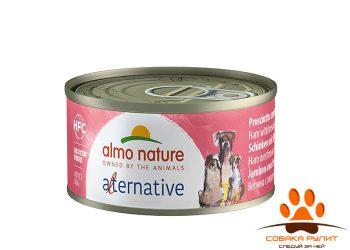 "Almo Nature Alternative консервы для собак ""Ветчина и говядина брезаола"", 55% мяса"