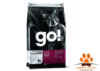 Корм GO! NATURAL Holistic беззерновой для щенков и собак с ягненком для чувствительного пищеварения, Sensitivity + Shine LID Lamb Dog Recipe, Grain Free, Potato Free