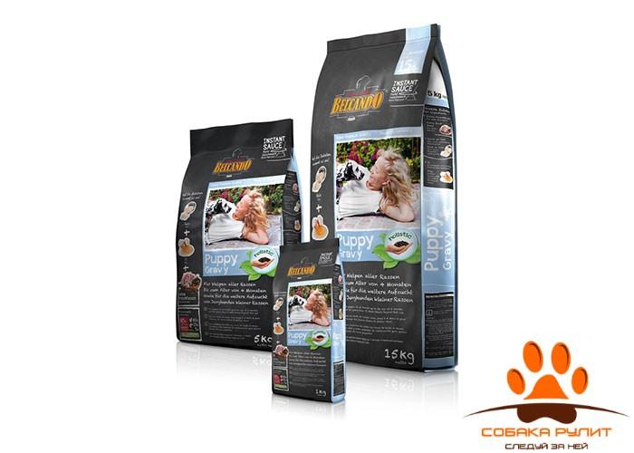 Корм Belcando для щенков малых и средних пород до 12 месяцев, для щенков крупных пород до 4 месяцев, Puppy 5 кг