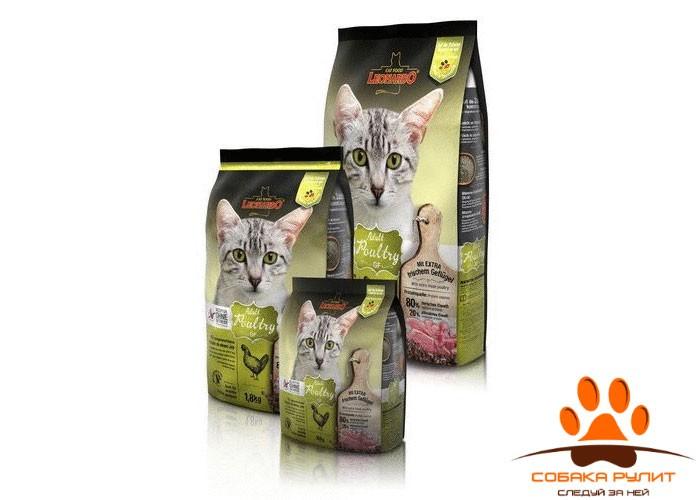 Leonardo Adult Poultry GF / Сухой беззерновой корм для кошек Леонардо эдалт на птице