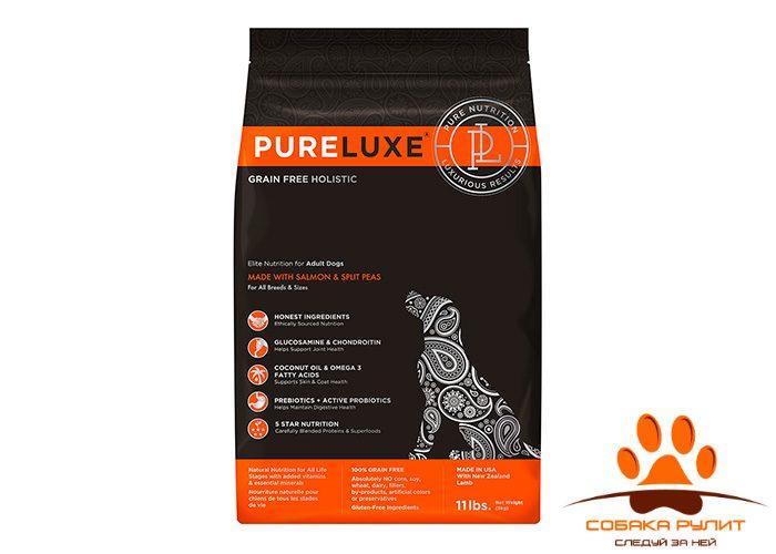 PureLuxe Элитное Питание для взрослых собак с лососем и горошком