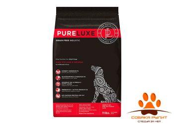 PureLuxe Элитное Питание для взрослых собак с ягненком и нутом