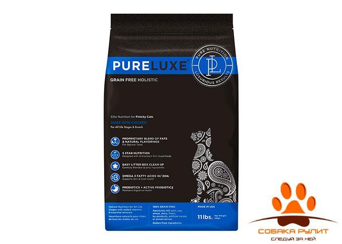 PureLuxe Элитное Питание для привередливых кошек с курицей