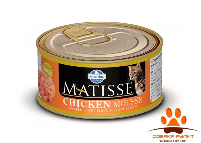 Matisse консервы для кошек Мусс с курицей 85 г