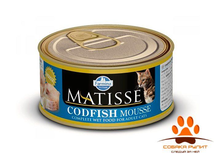 Matisse консервы для кошек Мусс с треской 85 г