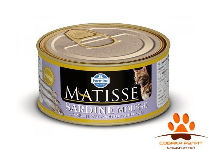 Matisse консервы для кошек Мусс с сардинами 85 г