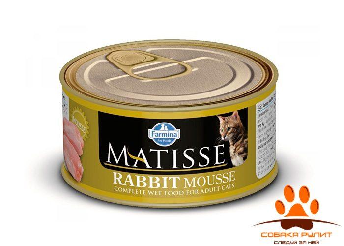 Matisse консервы для кошек Мусс с кроликом 85 г