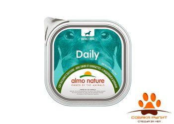 "Almo Nature консервы для собак ""Меню с индейкой и цуккини"", Daily Menu – Turkey and Courgette"