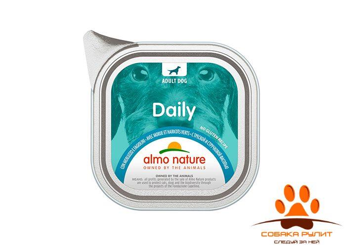 """Almo Nature консервы для собак """"Меню с треской и стручковой фасолью"""", Daily Menu – Cod and Green Beans"""