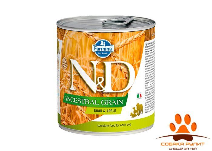 Farmina N&D Ancestral Grain Dog Wet Boar & Apple