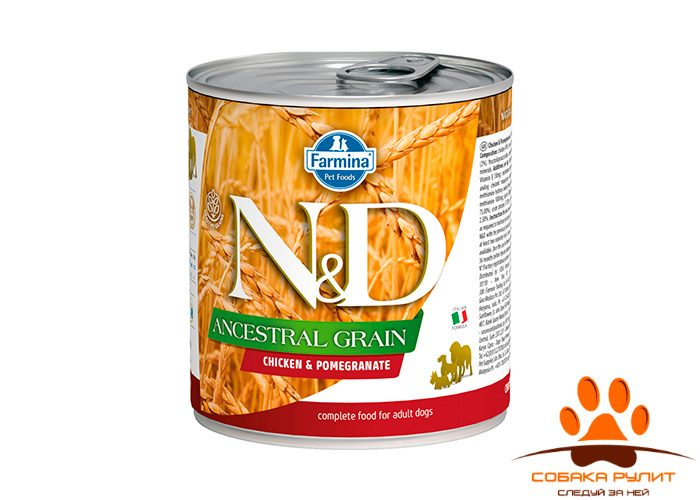 Farmina N&D Ancestral Grain Dog Wet Chicken & Pomegranate