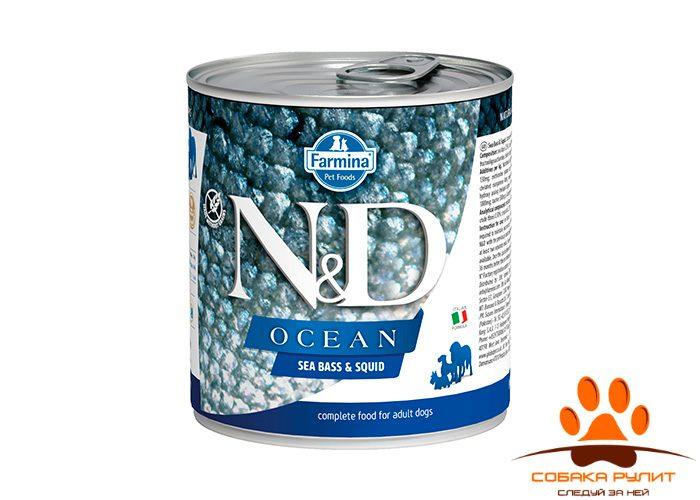 Farmina N&D Ocean Dog Wet Sea Bass & Squid