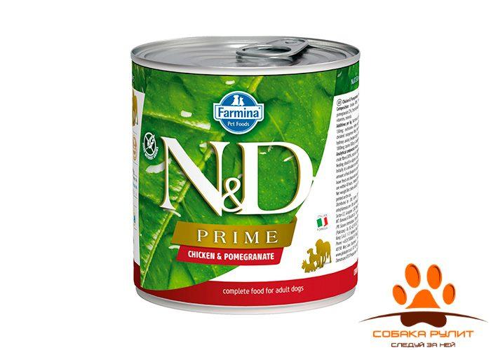 Farmina N&D Prime Dog Wet Chicken & Pomegranate