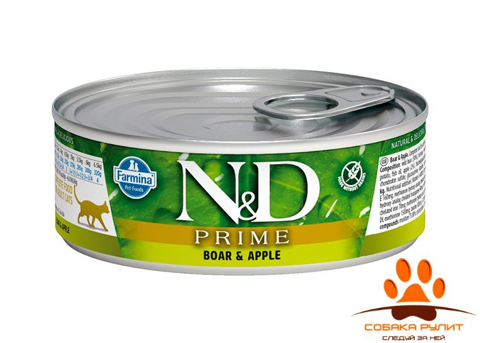 Farmina N&D Prime Cat Wet Boar & Apple 80г