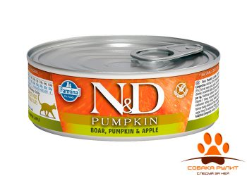 Farmina N&D Cat Pumpkin Wet Boar & Apple 80г