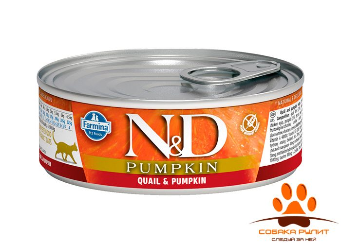 Farmina N&D Cat Pumpkin Wet Quail 80г