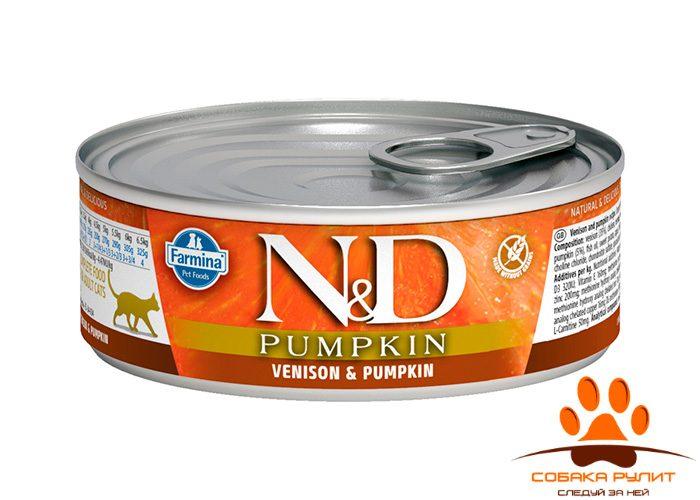 Farmina N&D Cat Pumpkin Wet Venison 80г