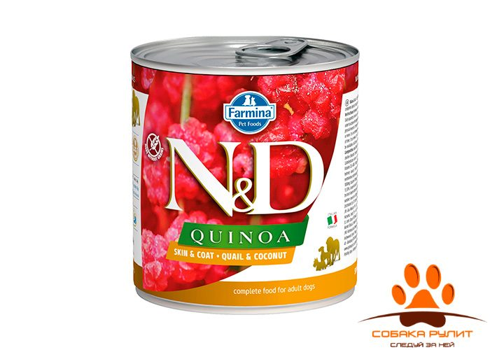 Farmina N&D Dog Quinoa Wet Quail & Coconut