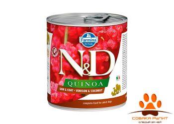 Farmina N&D Dog Quinoa Wet Venison & Coconut