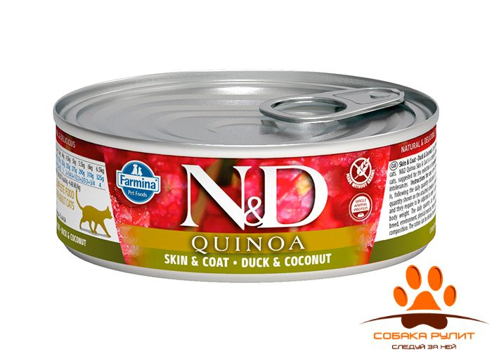 Farmina N&D Cat Quinoa Wet Duck & Coconut 80г