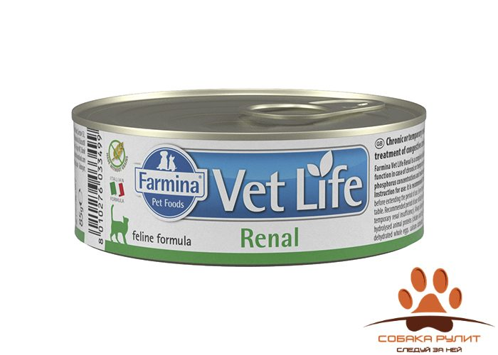 Farmina N&D Vet Life Wet Cat Renal 85г