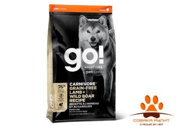 Корм GO! Natural беззерновой для собак всех возрастов c ягненком и мясом дикого кабана, GO! CARNIVORE GF
