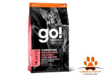 Корм GO! Natural беззерновой для собак всех возрастов c лососем и треской, GO! CARNIVORE GF