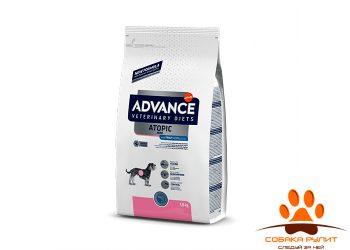 Advance Корм для собак малых пород при дерматозах и аллергии, Dog Atopic care